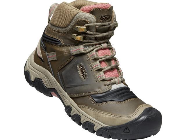 Keen Ridge Flex Mid WP Shoes Women timberwolf/brick dust